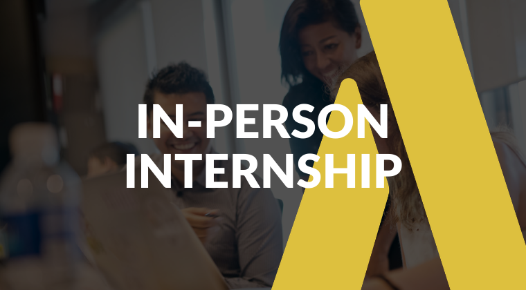 In-person internship banner