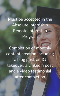 Requirements for Remote Internship Scholarship