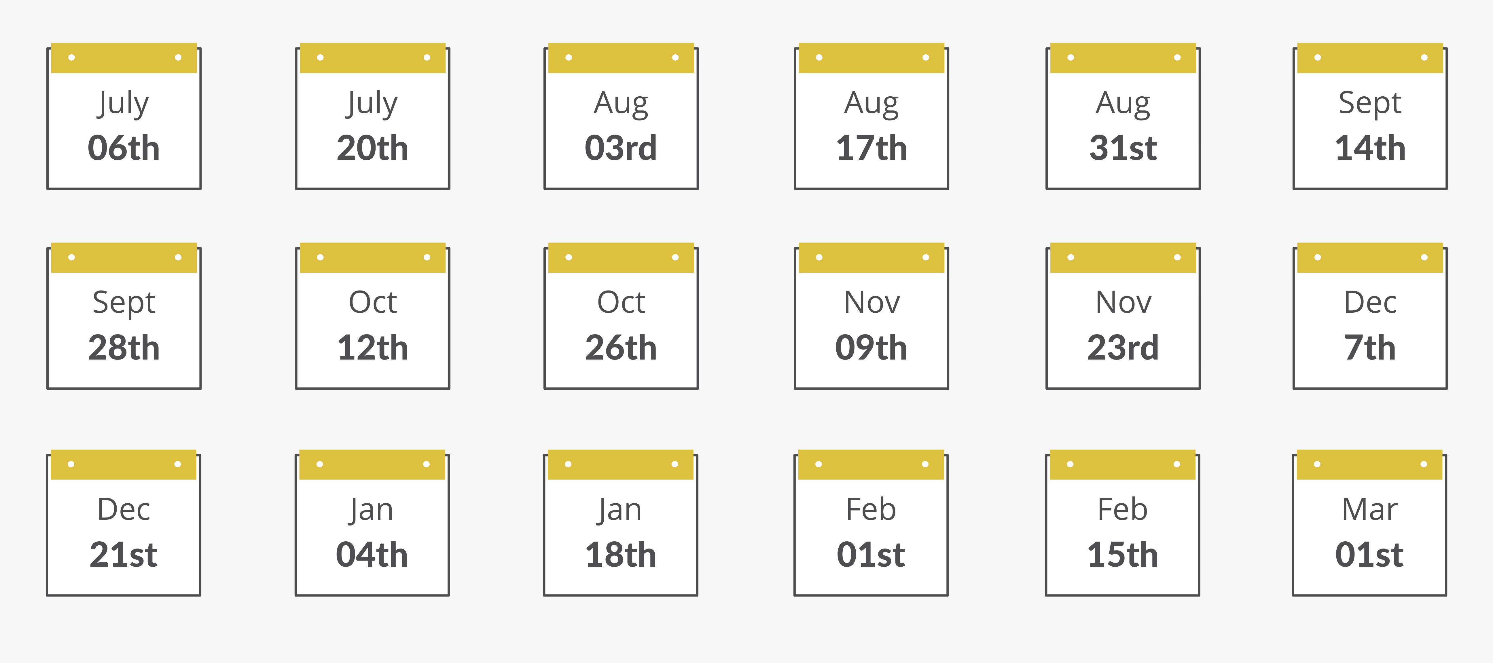 Remote Internship Program Dates