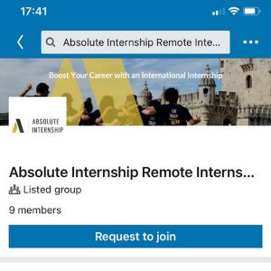 Remote interns linkedin group